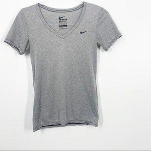 The Nike Tee Gray Striped XS Athletic Wear Dri Fit